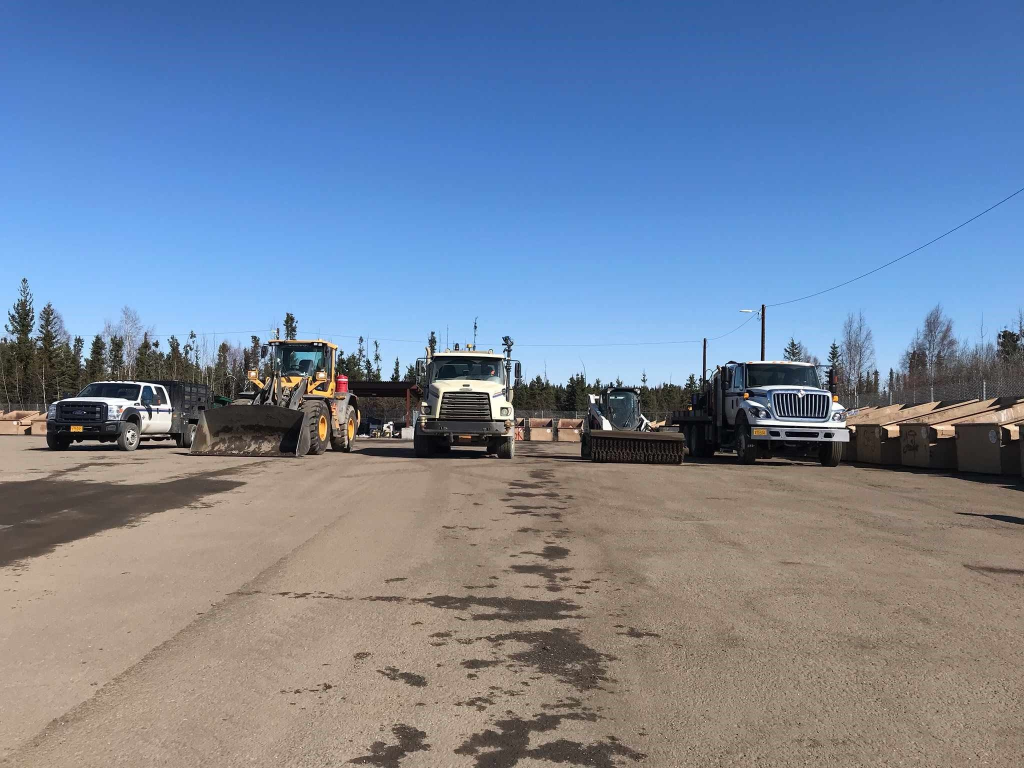 Solid Waste Division Cleaning up North Pole Transfer Site of Gravel and Debris